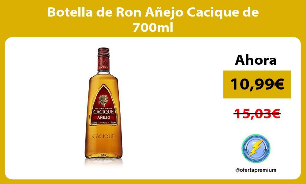 Botella de Ron Añejo Cacique de 700ml