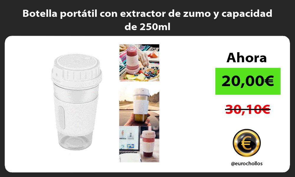 Botella portátil con extractor de zumo y capacidad de 250ml