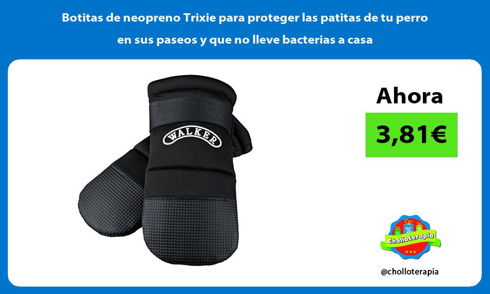Botitas de neopreno Trixie para proteger las patitas de tu perro en sus paseos y que no lleve bacterias a casa
