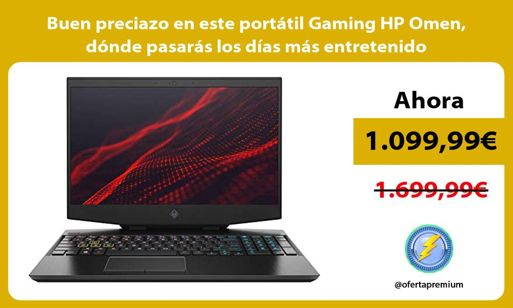 Buen preciazo en este portátil Gaming HP Omen dónde pasarás los días más entretenido