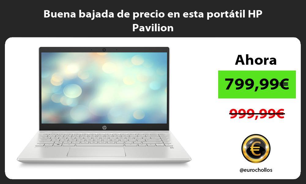 Buena bajada de precio en esta portátil HP Pavilion