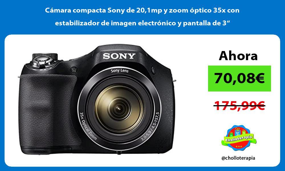 """Cámara compacta Sony de 201mp y zoom óptico 35x con estabilizador de imagen electrónico y pantalla de 3"""""""