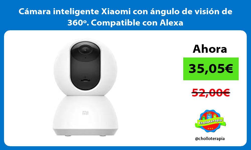 Cámara inteligente Xiaomi con ángulo de visión de 360º Compatible con Alexa
