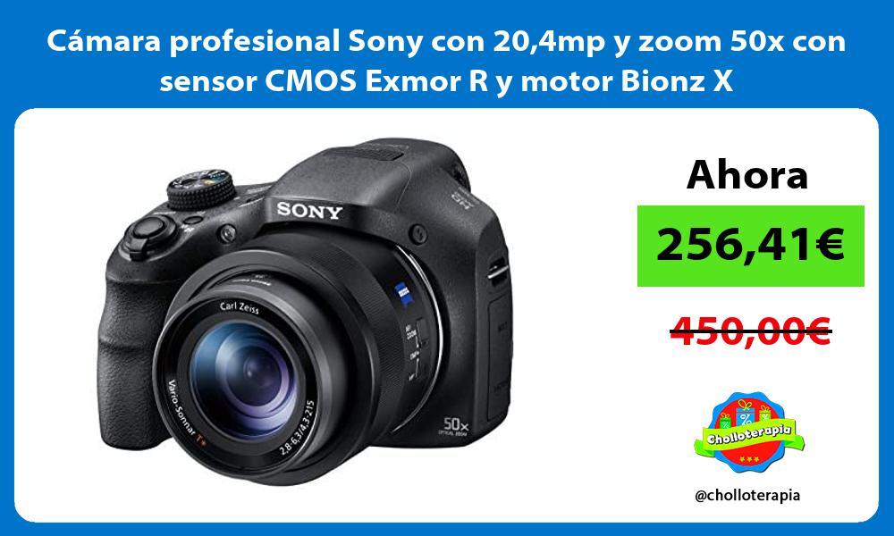 Cámara profesional Sony con 204mp y zoom 50x con sensor CMOS Exmor R y motor Bionz X