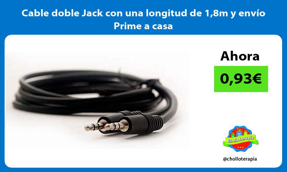 Cable doble Jack con una longitud de 18m y envío Prime a casa