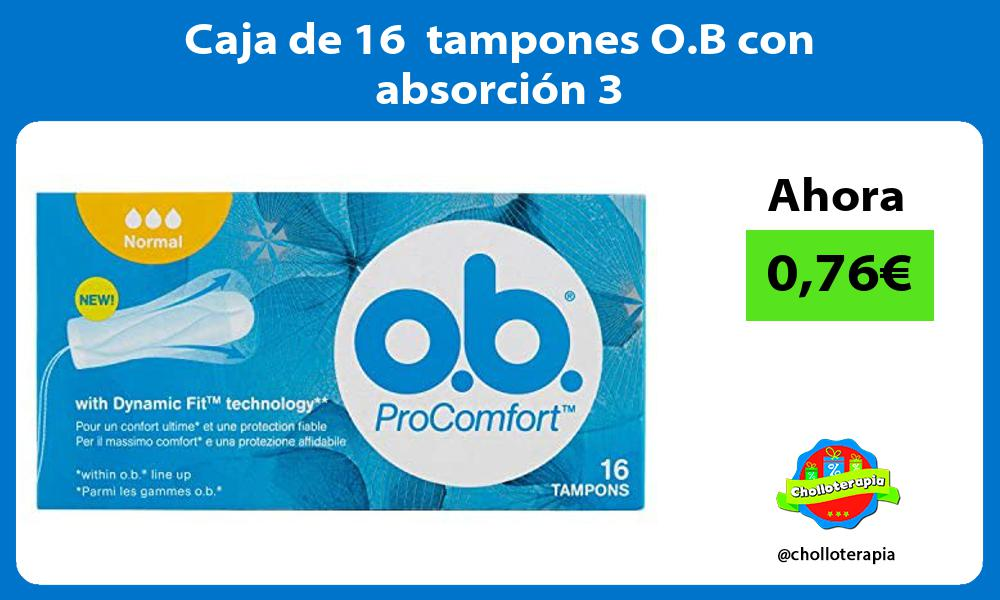 Caja de 16 tampones O B con absorción 3