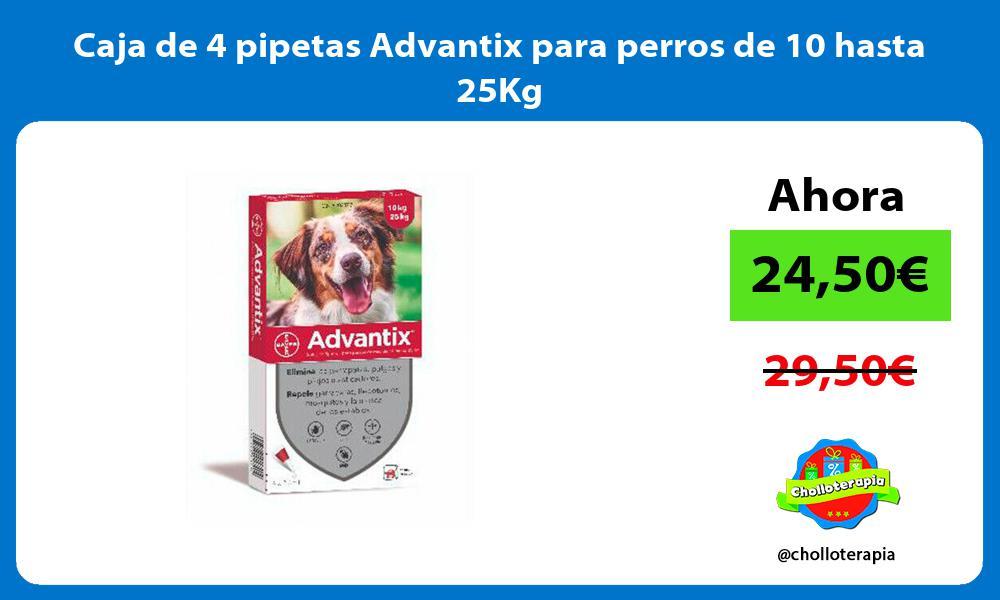 Caja de 4 pipetas Advantix para perros de 10 hasta 25Kg