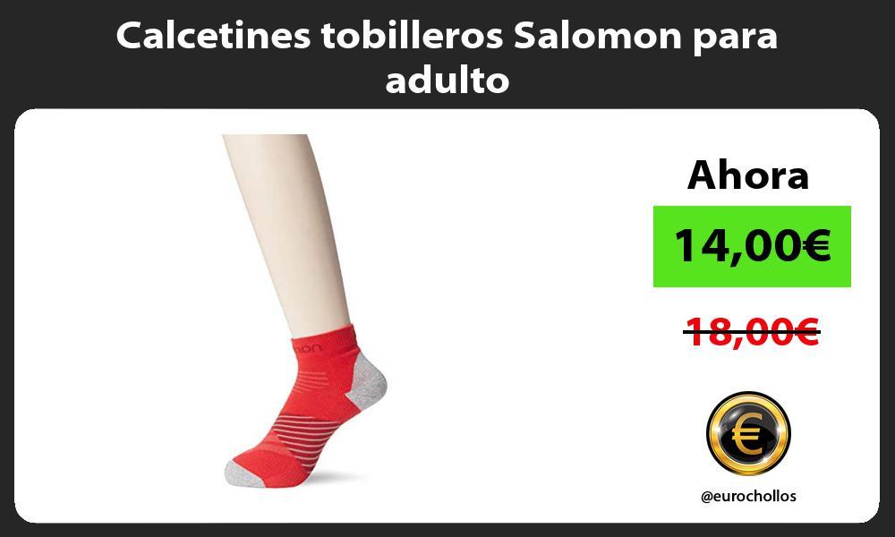 Calcetines tobilleros Salomon para adulto