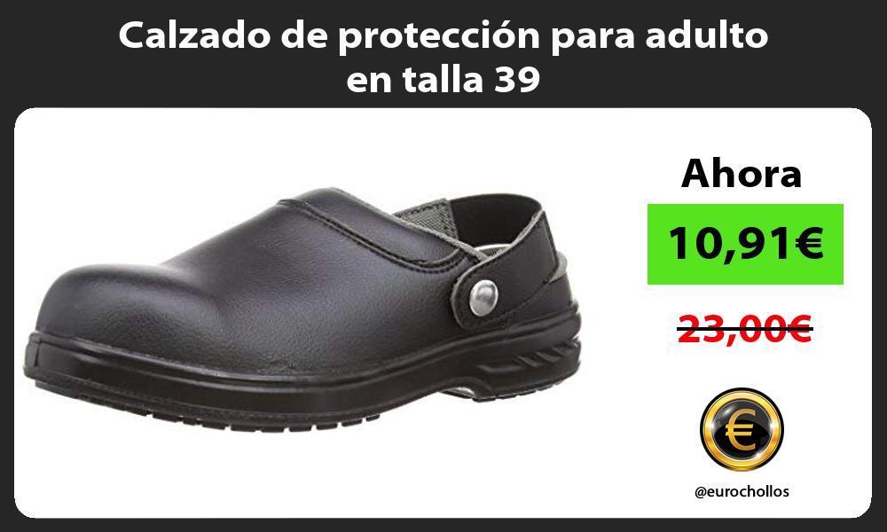 Calzado de protección para adulto en talla 39