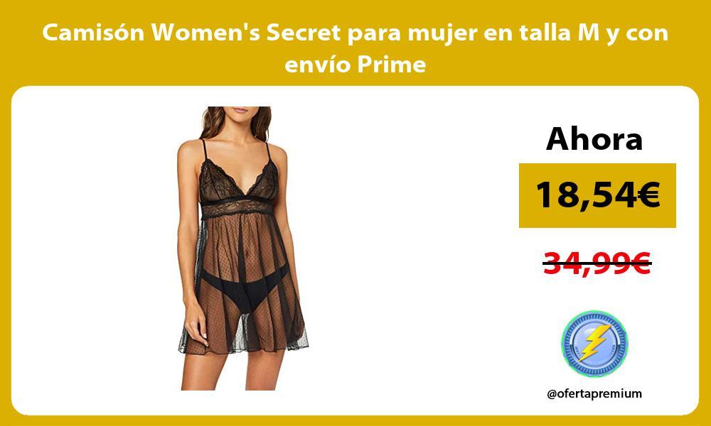 Camisón Womens Secret para mujer en talla M y con envío Prime