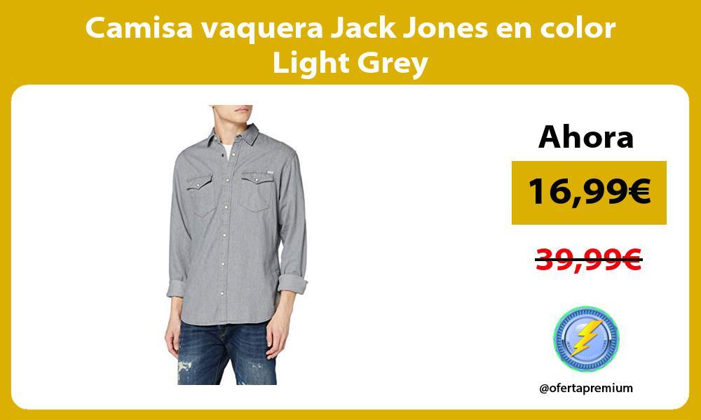 Camisa vaquera Jack Jones en color Light Grey