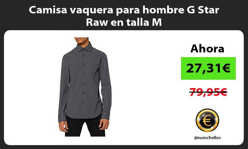 Camisa vaquera para hombre G Star Raw en talla M