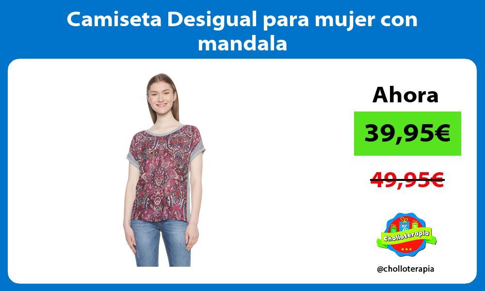 Camiseta Desigual para mujer con mandala