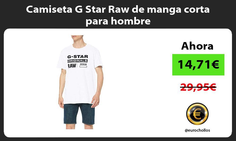 Camiseta G Star Raw de manga corta para hombre