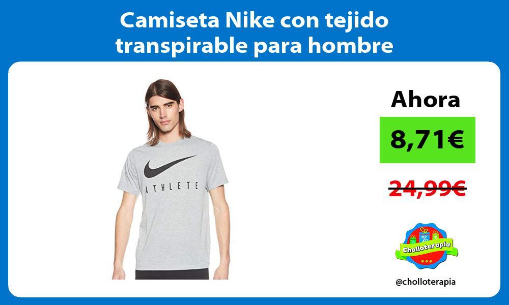 Camiseta Nike con tejido transpirable para hombre