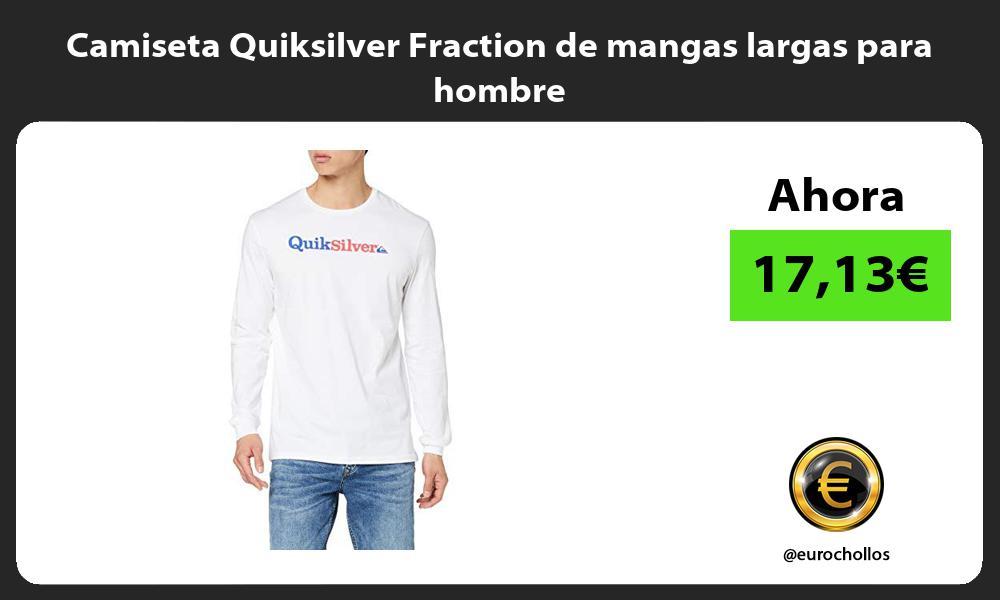 Camiseta Quiksilver Fraction de mangas largas para hombre