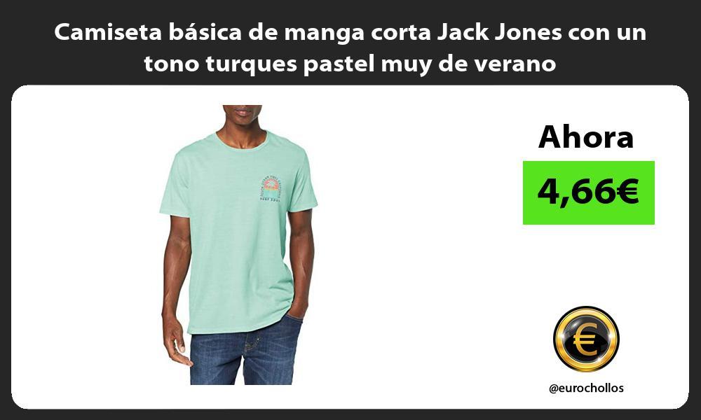 Camiseta básica de manga corta Jack Jones con un tono turques pastel muy de verano