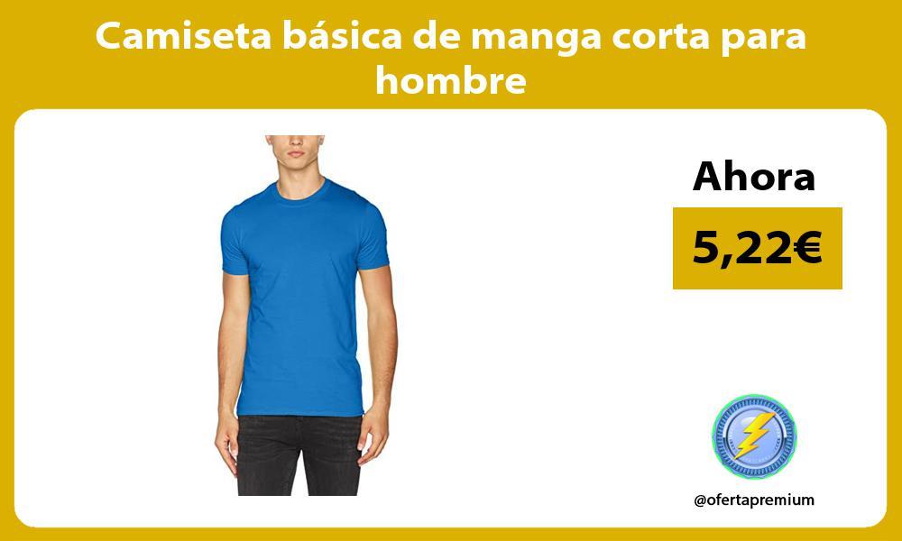 Camiseta básica de manga corta para hombre