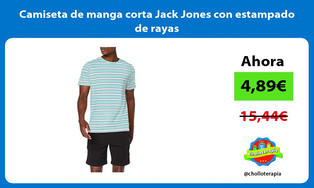 Camiseta de manga corta Jack Jones con estampado de rayas