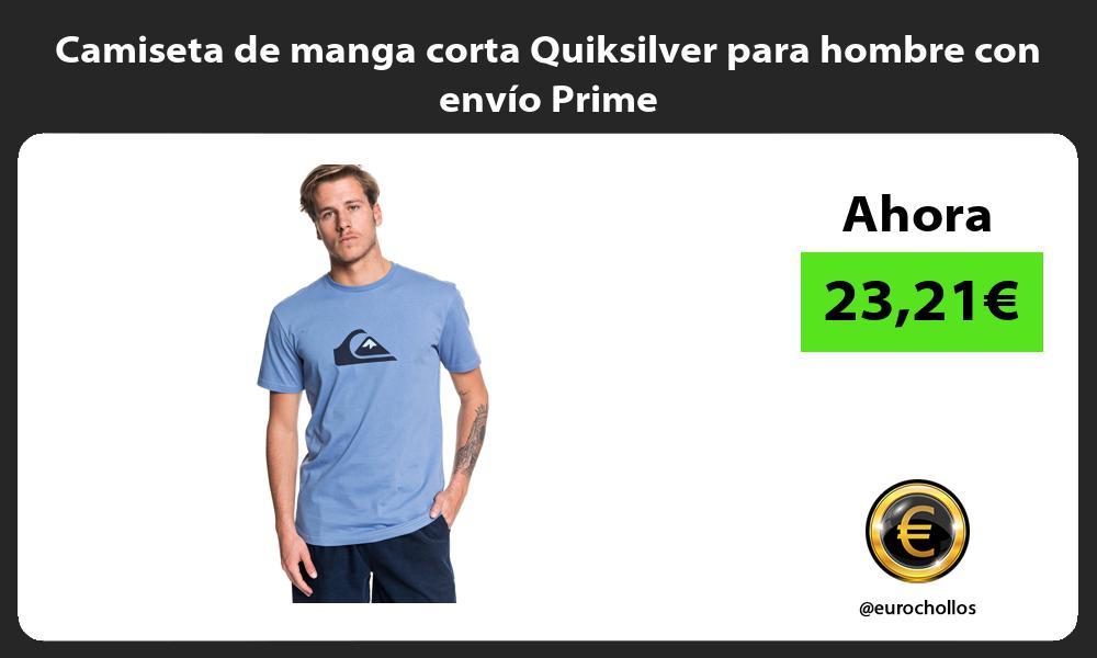 Camiseta de manga corta Quiksilver para hombre con envío Prime