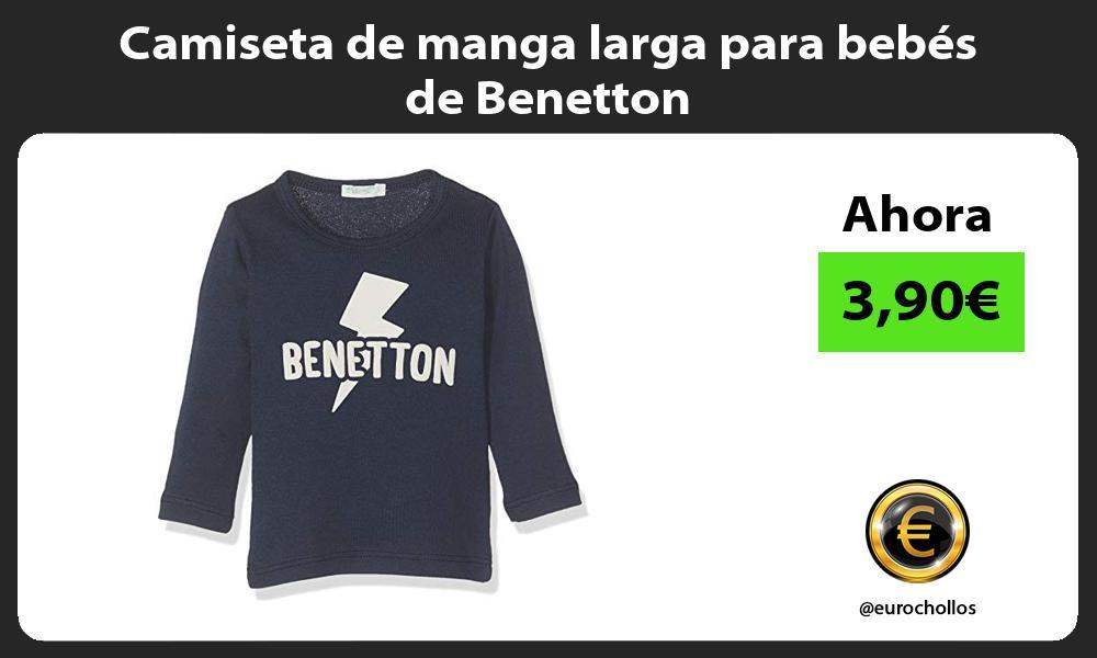 Camiseta de manga larga para bebés de Benetton