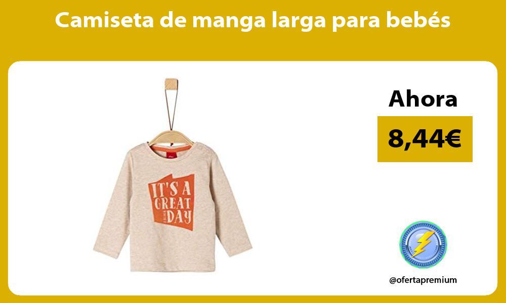 Camiseta de manga larga para bebés
