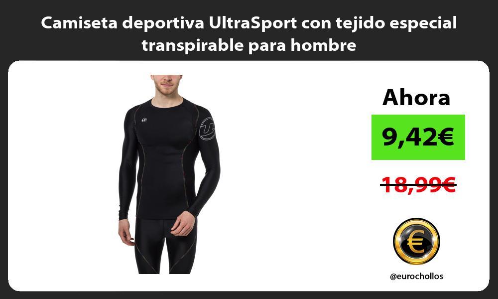 Camiseta deportiva UltraSport con tejido especial transpirable para hombre