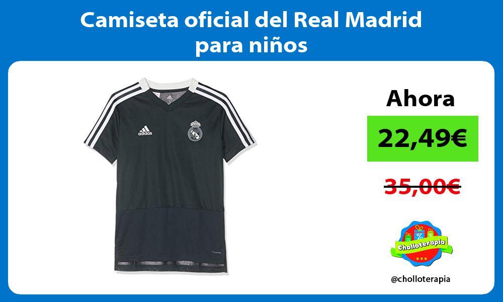 Camiseta oficial del Real Madrid para niños