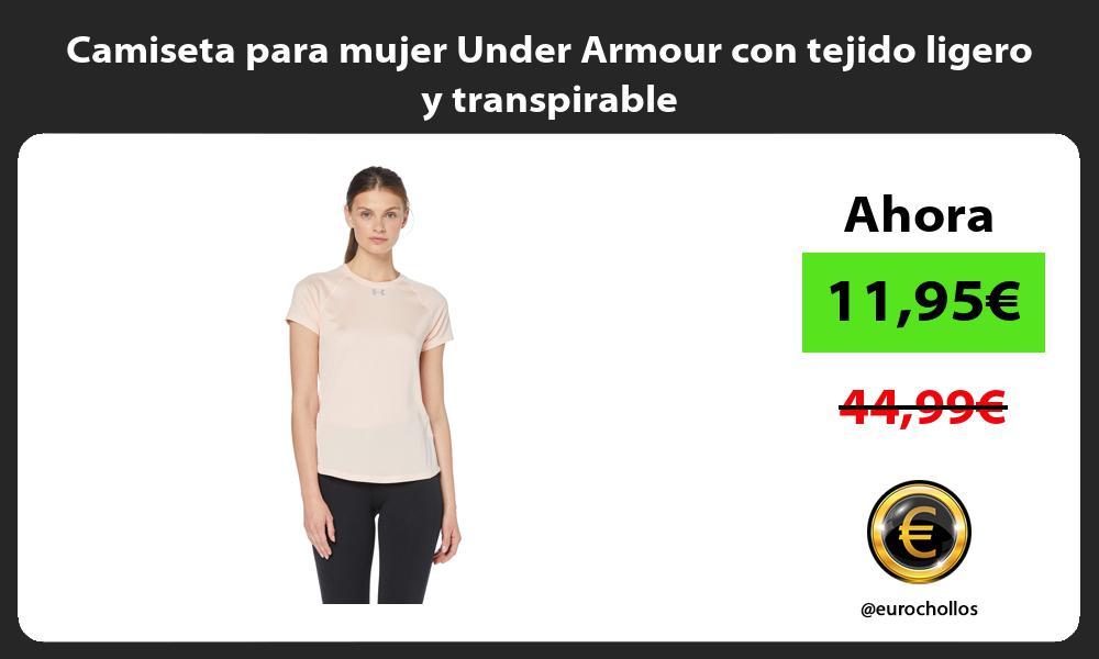Camiseta para mujer Under Armour con tejido ligero y transpirable