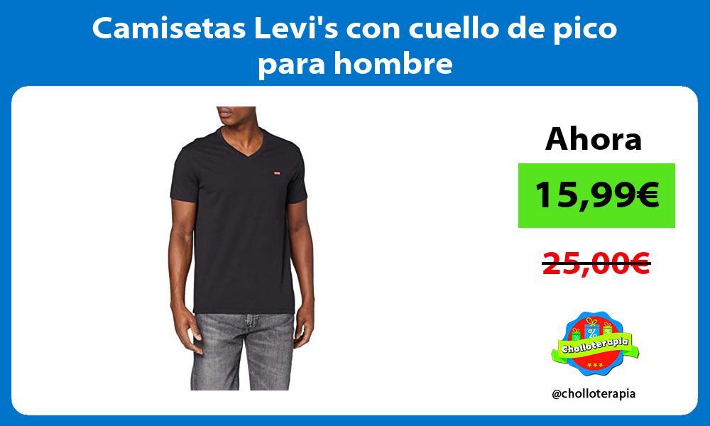 Camisetas Levis con cuello de pico para hombre