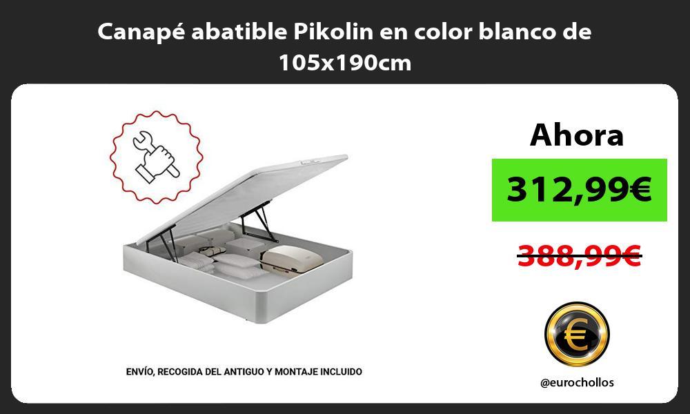 Canapé abatible Pikolin en color blanco de 105x190cm