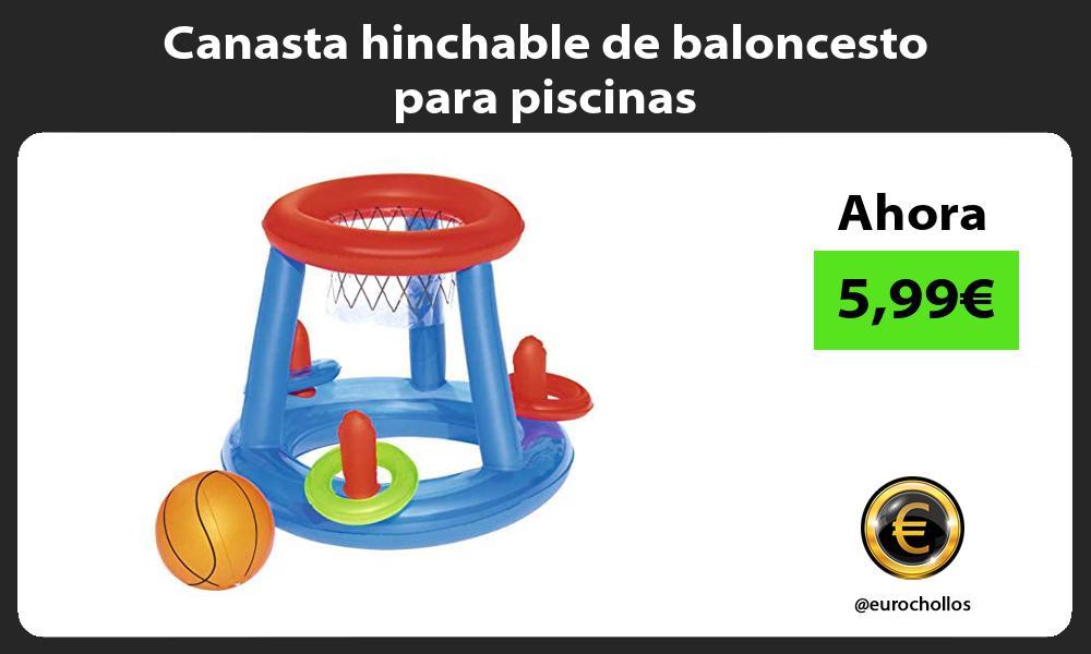 Canasta hinchable de baloncesto para piscinas