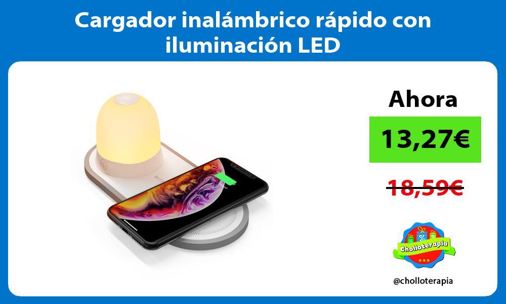 Cargador inalámbrico rápido con iluminación LED