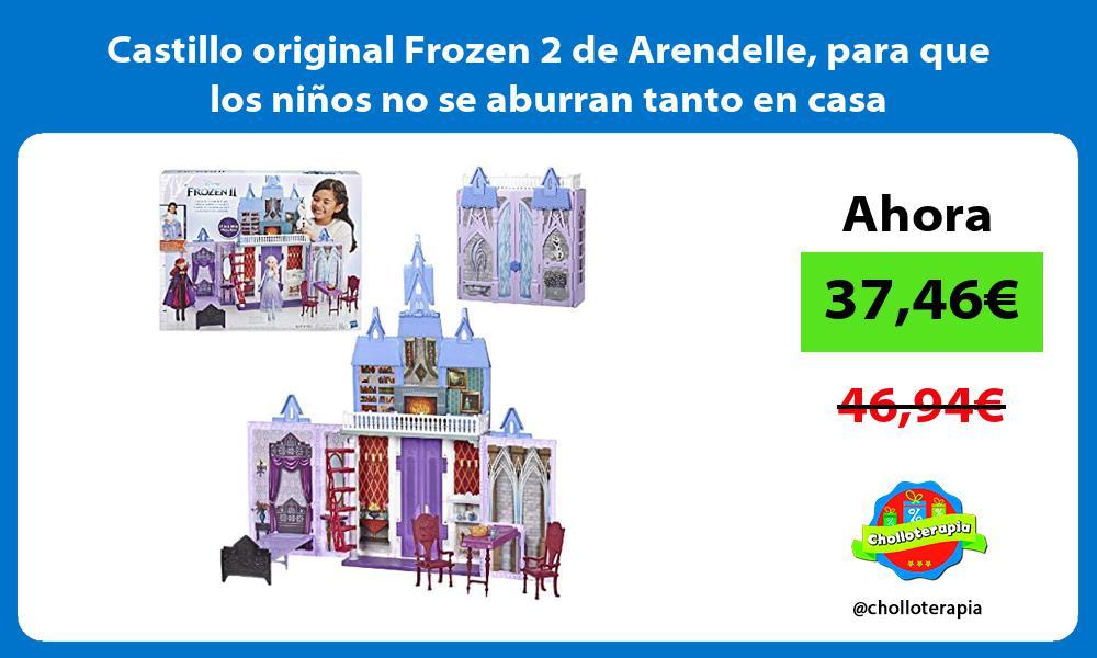 Castillo original Frozen 2 de Arendelle para que los niños no se aburran tanto en casa