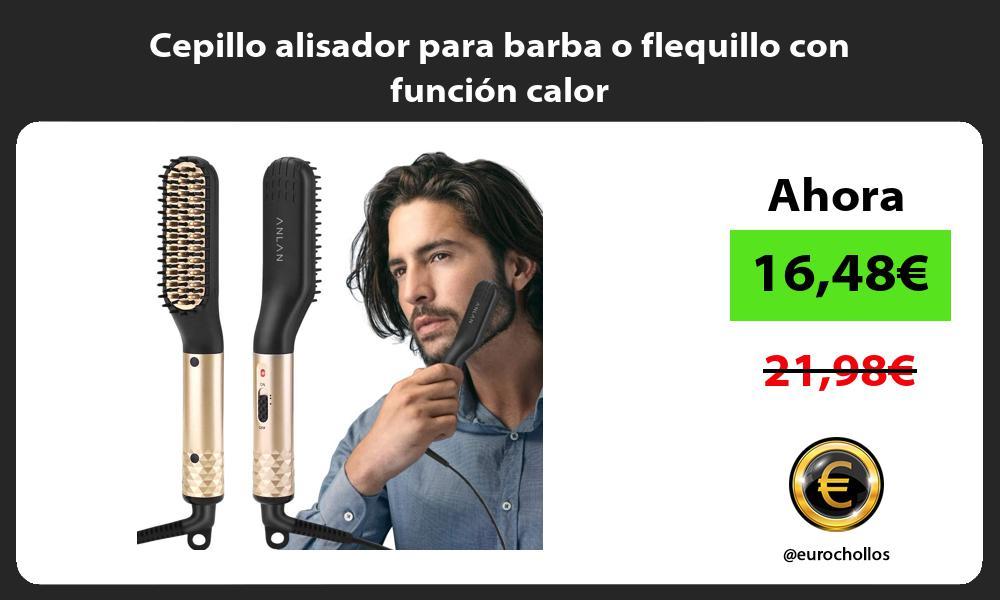 Cepillo alisador para barba o flequillo con función calor