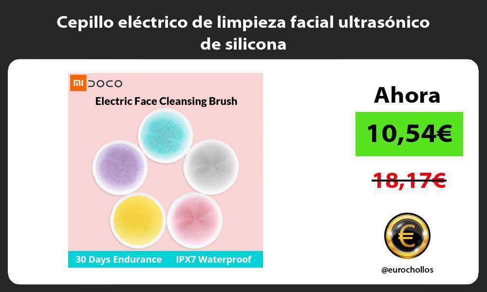 Cepillo eléctrico de limpieza facial ultrasónico de silicona