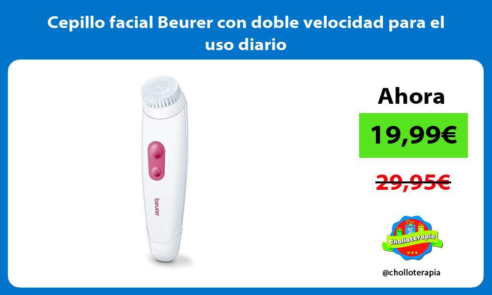 Cepillo facial Beurer con doble velocidad para el uso diario