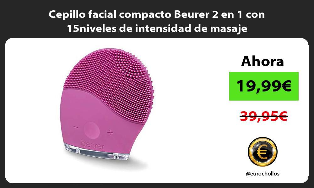 Cepillo facial compacto Beurer 2 en 1 con 15niveles de intensidad de masaje