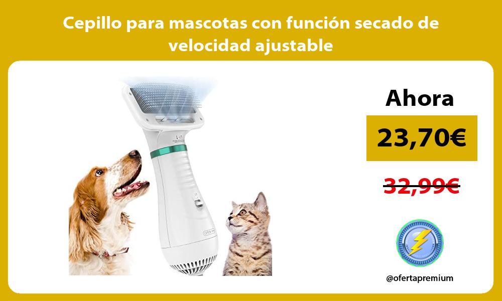 Cepillo para mascotas con función secado de velocidad ajustable