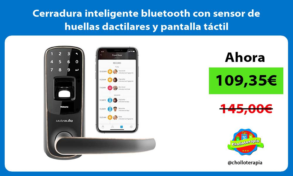 Cerradura inteligente bluetooth con sensor de huellas dactilares y pantalla táctil