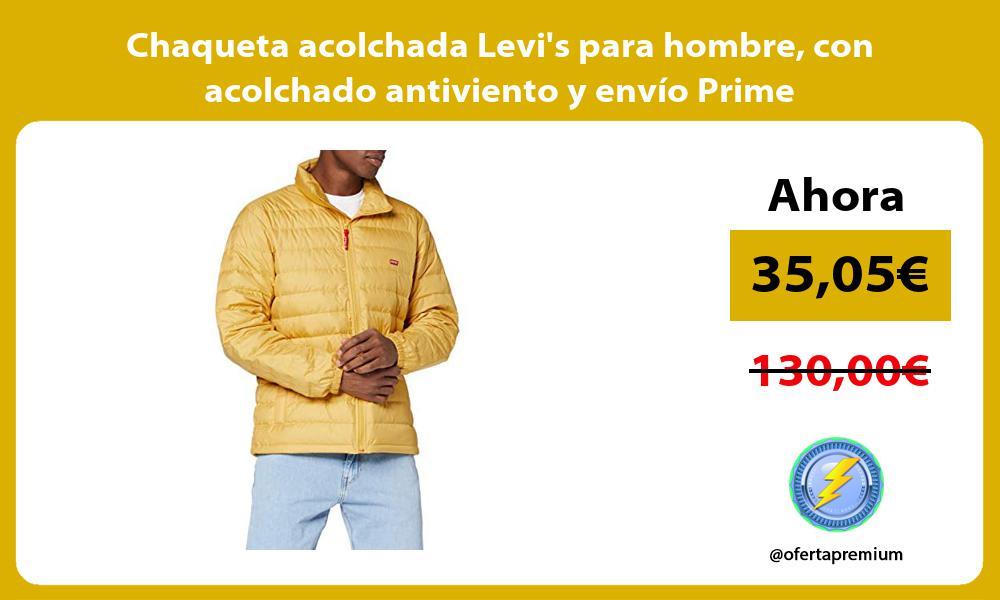 Chaqueta acolchada Levis para hombre con acolchado antiviento y envío Prime