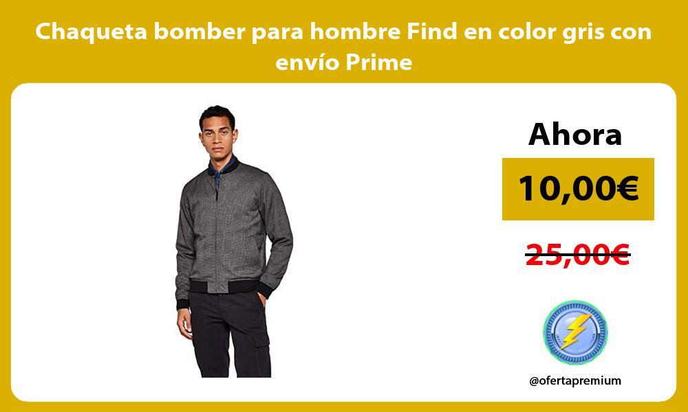 Chaqueta bomber para hombre Find en color gris con envío Prime