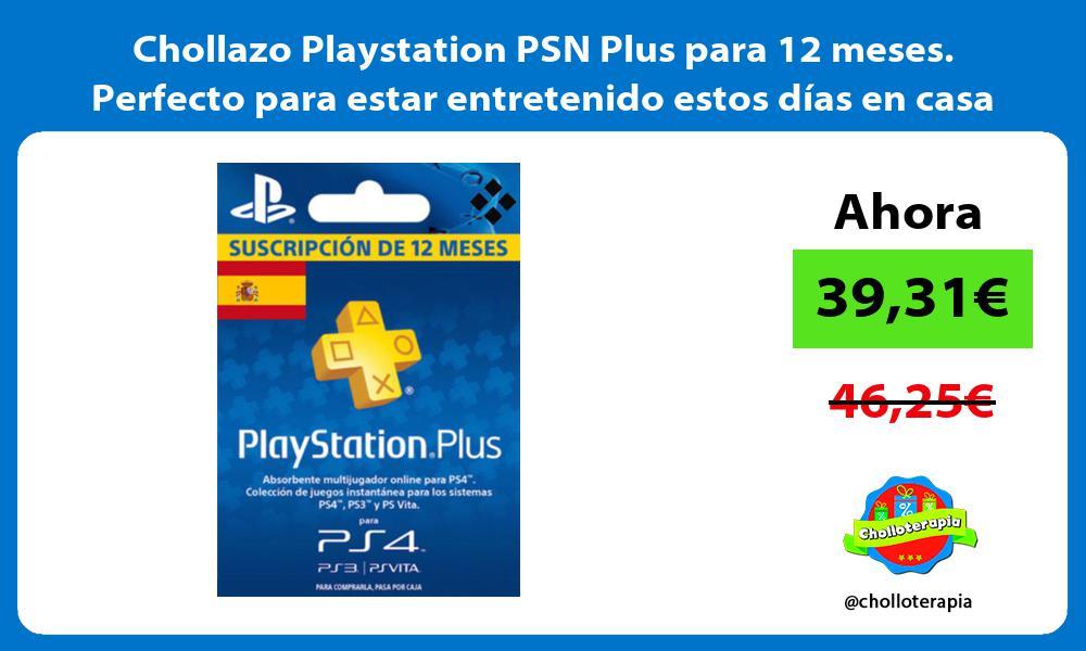 Chollazo Playstation PSN Plus para 12 meses Perfecto para estar entretenido estos días en casa