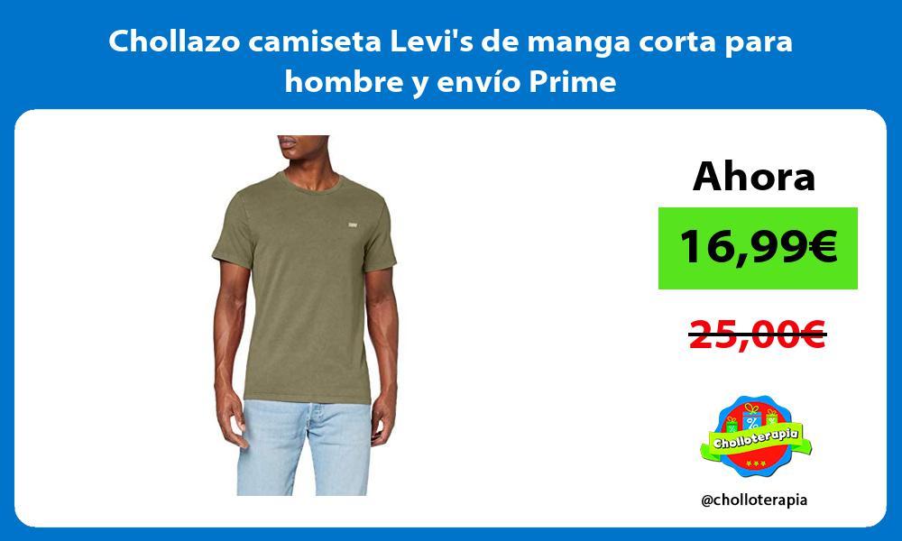 Chollazo camiseta Levis de manga corta para hombre y envío Prime