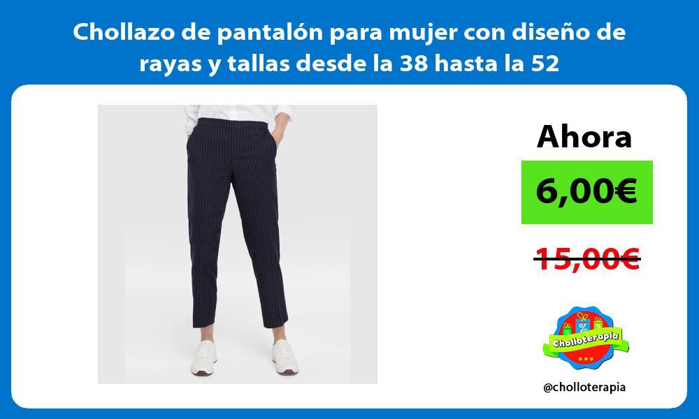 Chollazo de pantalón para mujer con diseño de rayas y tallas desde la 38 hasta la 52