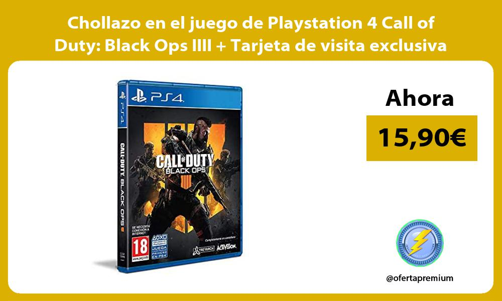 Chollazo en el juego de Playstation 4 Call of Duty Black Ops IIII Tarjeta de visita exclusiva