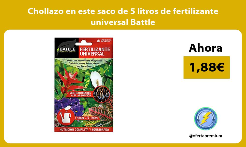 Chollazo en este saco de 5 litros de fertilizante universal Battle