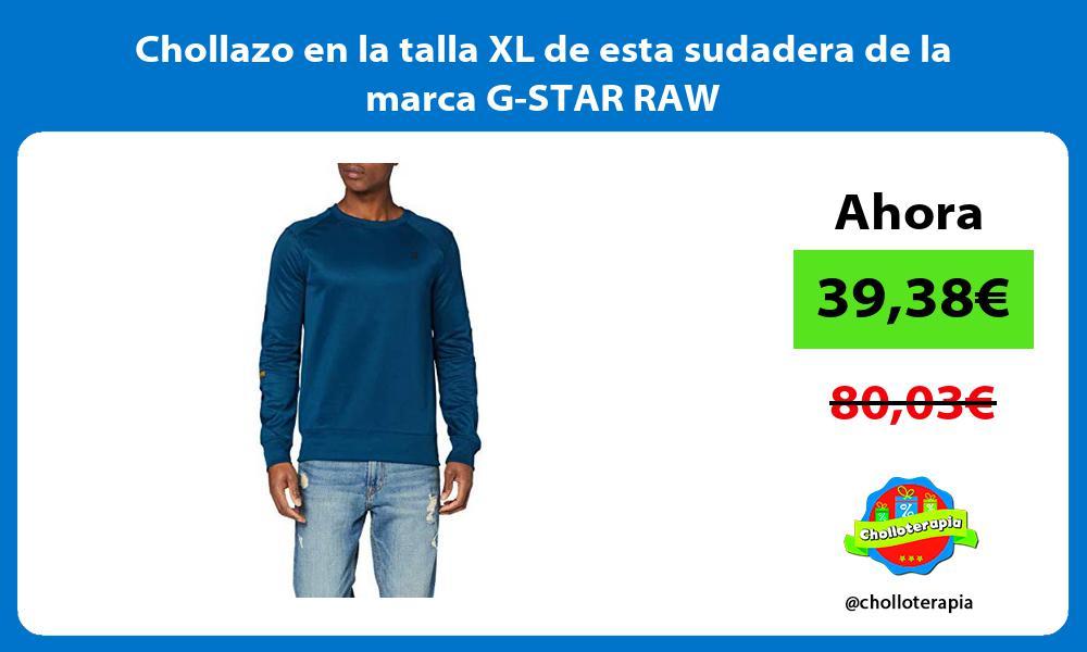 Chollazo en la talla XL de esta sudadera de la marca G STAR RAW