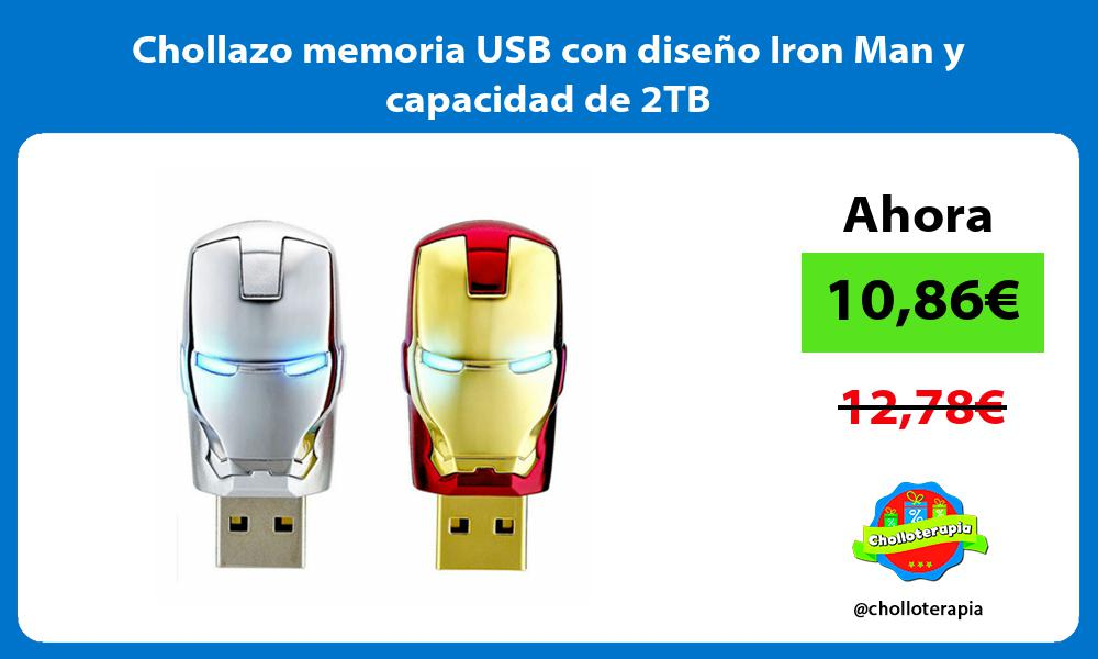 Chollazo memoria USB con diseño Iron Man y capacidad de 2TB