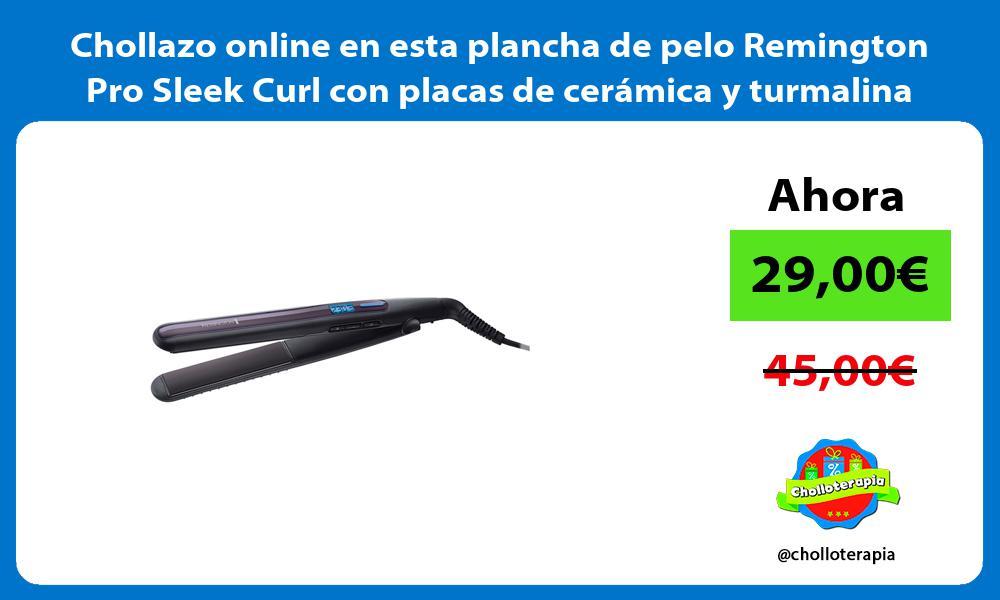 Chollazo online en esta plancha de pelo Remington Pro Sleek Curl con placas de cerámica y turmalina